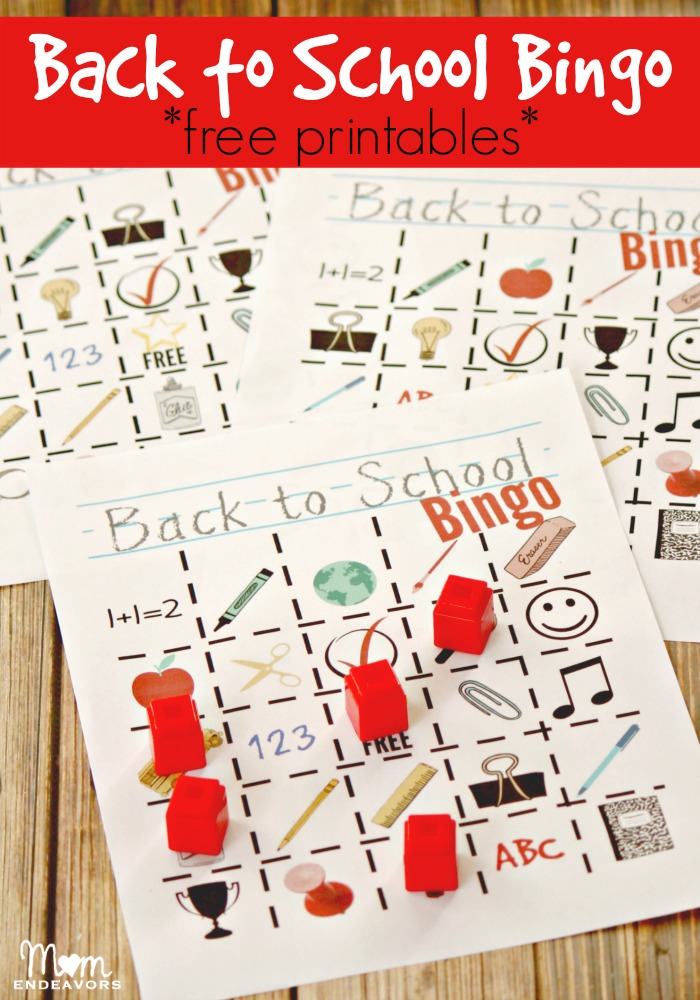 image regarding Printable Bingo Chips titled Again towards College or university Bingo Totally free Printables