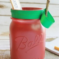 DIY Apple Mason Jar – Back to School Teacher Gift Idea