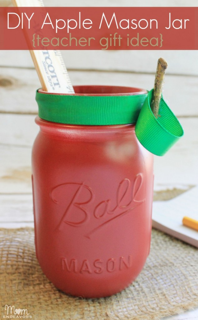 DIY Apple Mason Jar Teacher Gift Idea