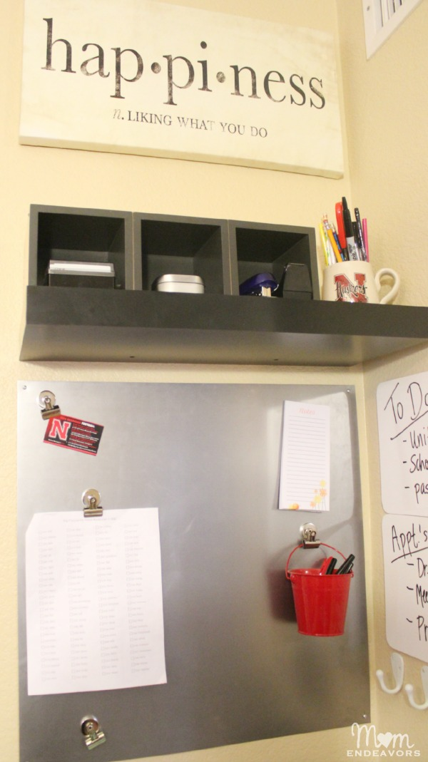 DIY Magnetic Board Command Center