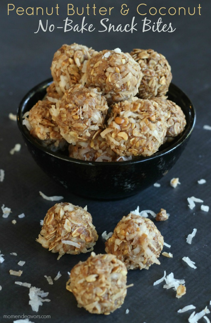 Peanut Butter & Coconut Snack Bites