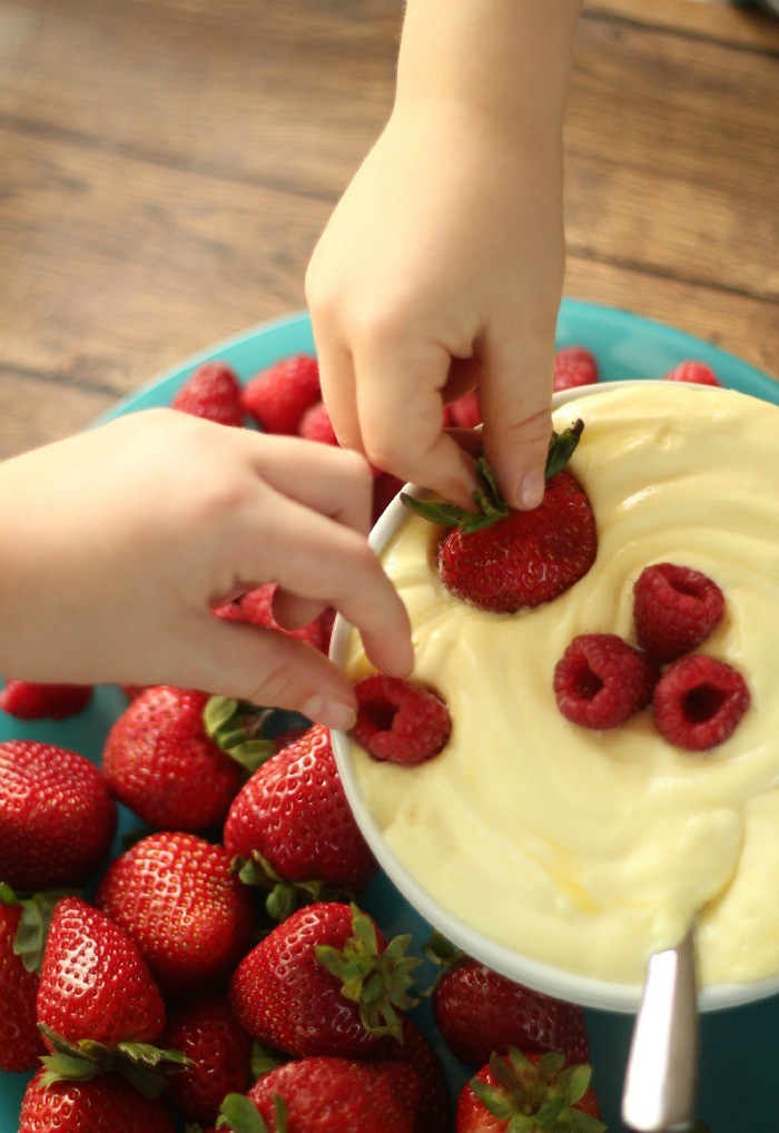 Whipped Lemon Dip & Berries Snack