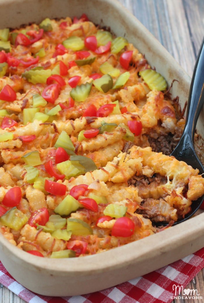 Cheeseburger Casserole Bake