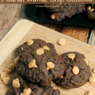 Fudgy Chocolate Peanut Butter Chip Cookies