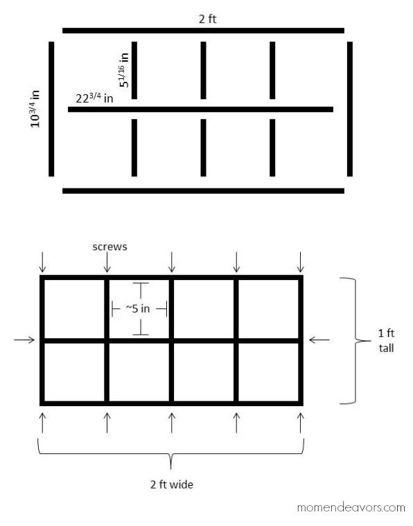 Cube Shelf Plans