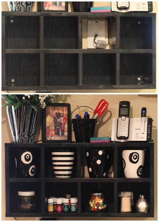 DIY Kitchen Cube Shelf