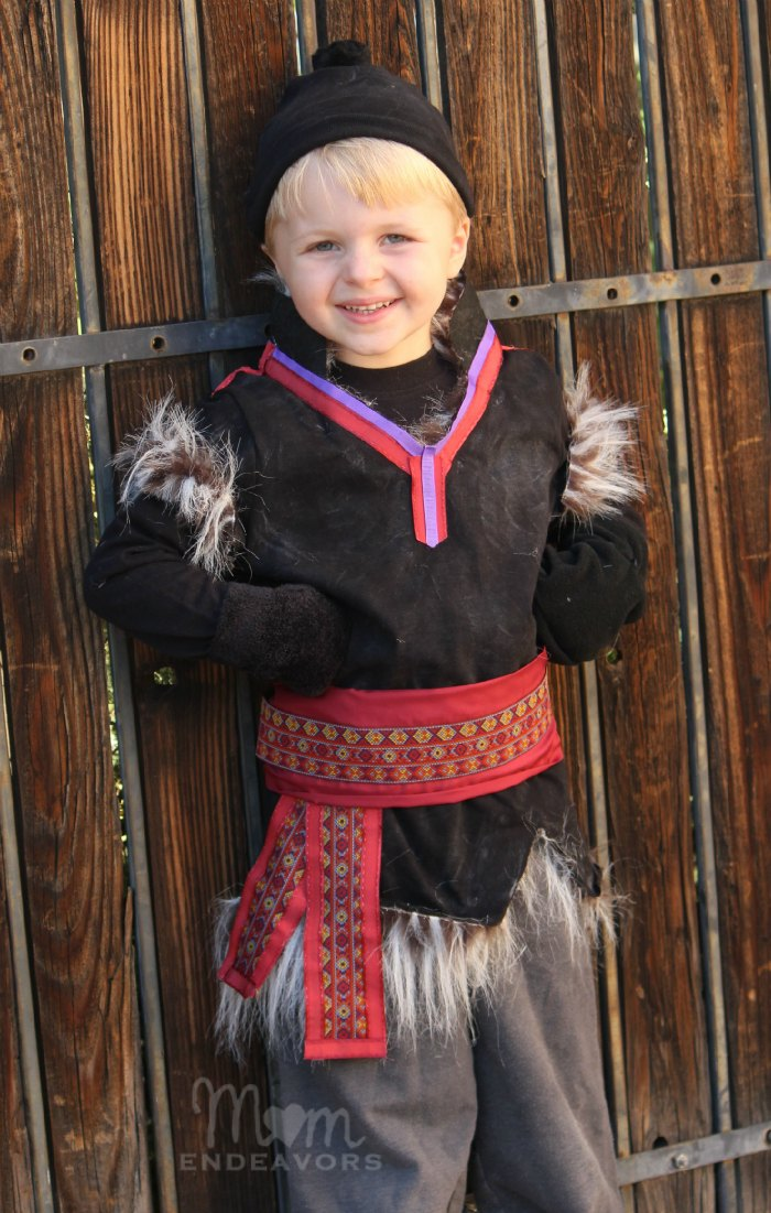 diy no sew disney frozen kristoff costume. Black Bedroom Furniture Sets. Home Design Ideas