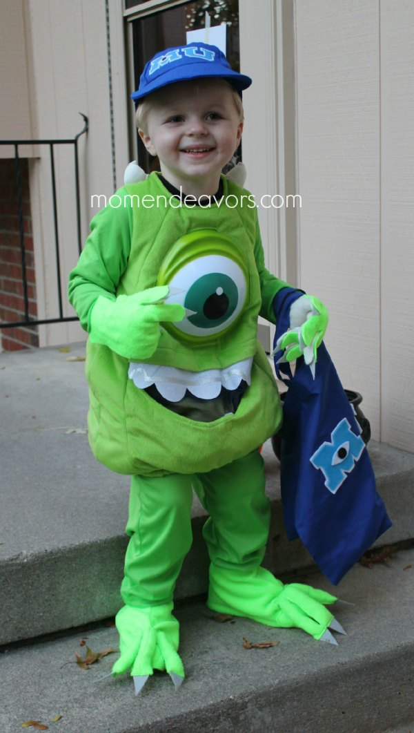 DIY Mike Wazowski Monster Costume Hands & feet