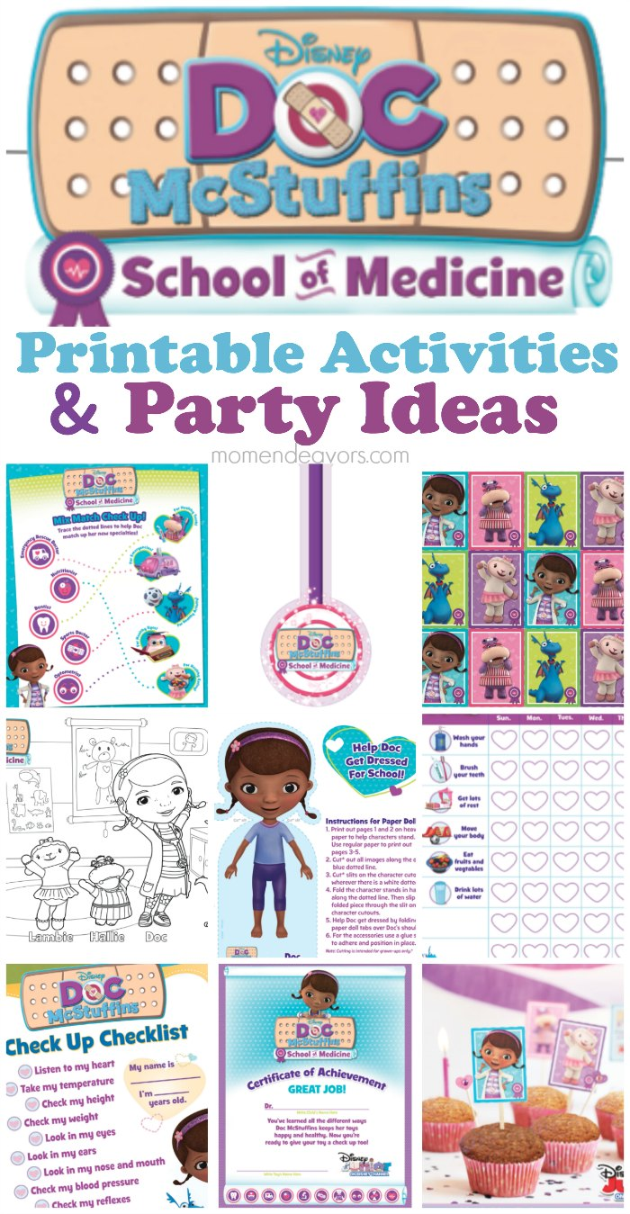 image regarding Printable Doc Mcstuffins named Document McStuffins Faculty of Medication 7 days No cost Printables