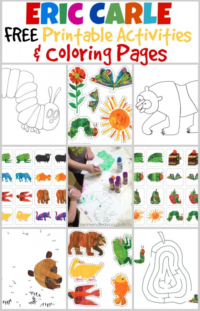 Playtime with the world of eric carle free printable activities