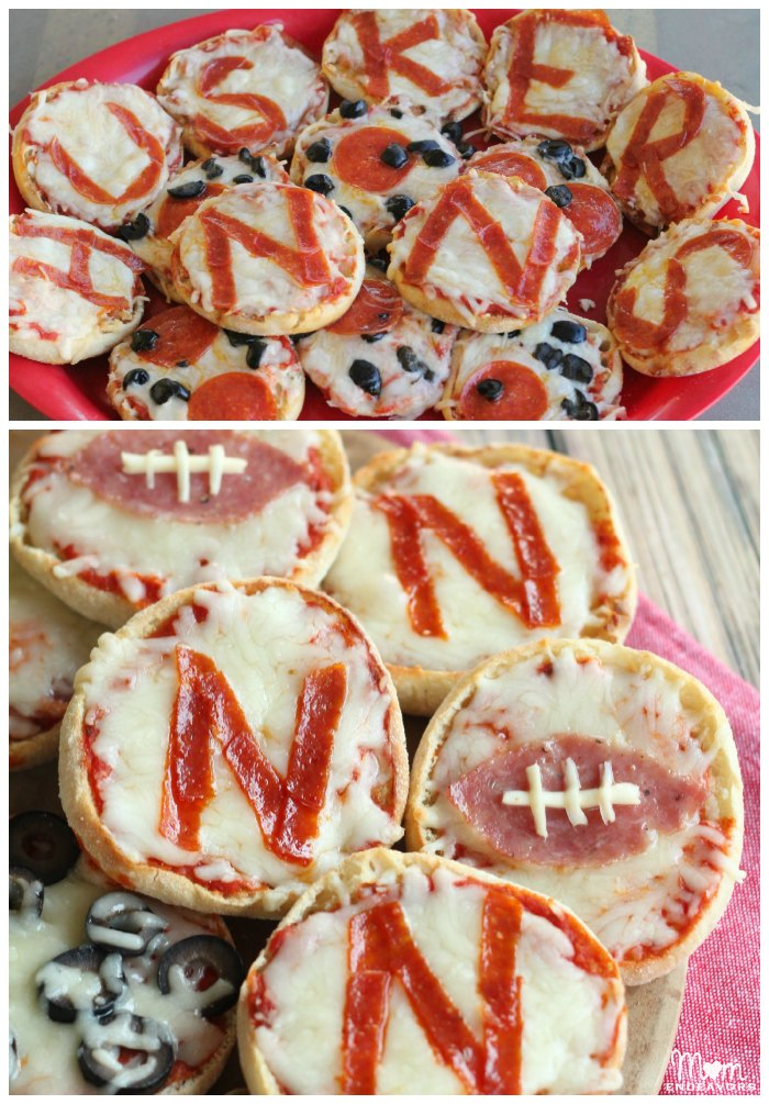 Nebraska Huskers Tailgating Mini Pizzas