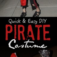 Quick & Easy DIY Pirate Halloween Costume