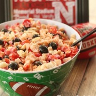Football Team Spirit Pasta Salad (Nebraska Huskers-style)