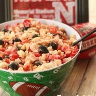 Football Team Spirit Pasta Salad (Nebraska Huskers-style)