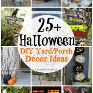 25+ DIY Halloween Yard & Porch Decor Ideas