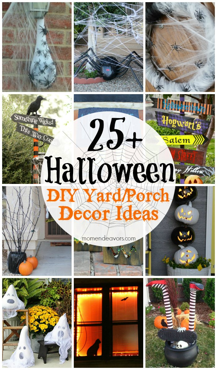 25+ diy halloween yard & porch decor ideas