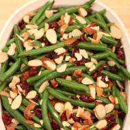 Holiday Side Dish – Bacon Cranberry Almond Green Beans