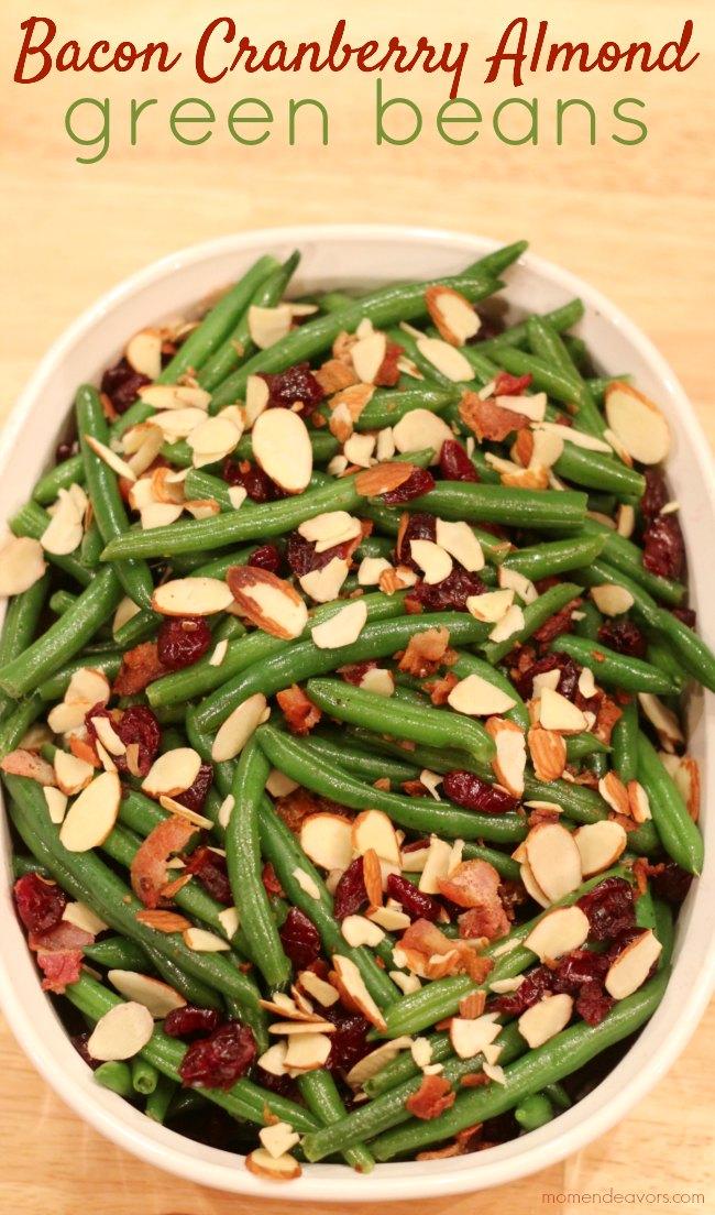 Bacon Cranberry Almond Green Beans