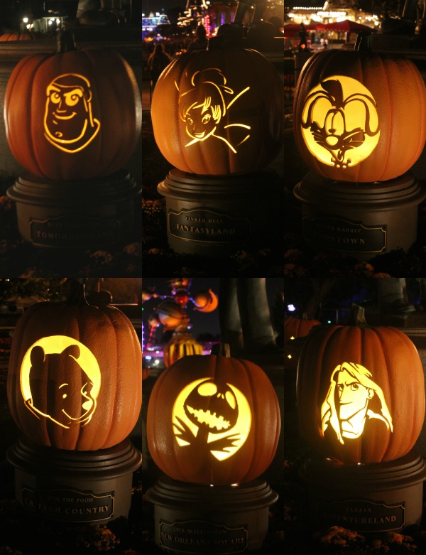 Character Pumpkins at Disneyland