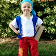 DIY No-Sew Jake and the Never Land Pirates Cubby Costume