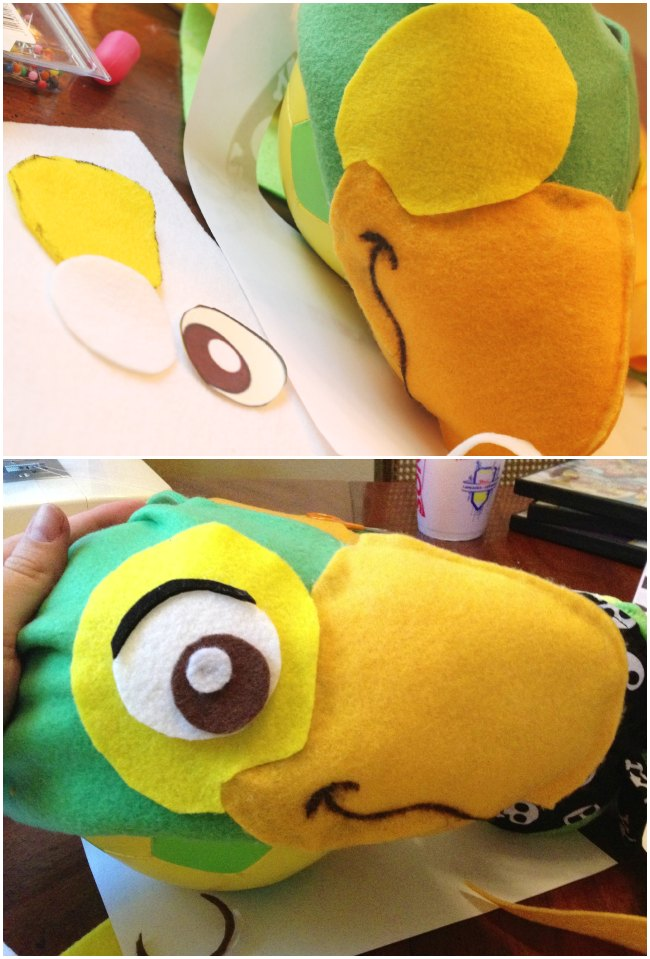 DIY Disney's Skully Parrot Hat
