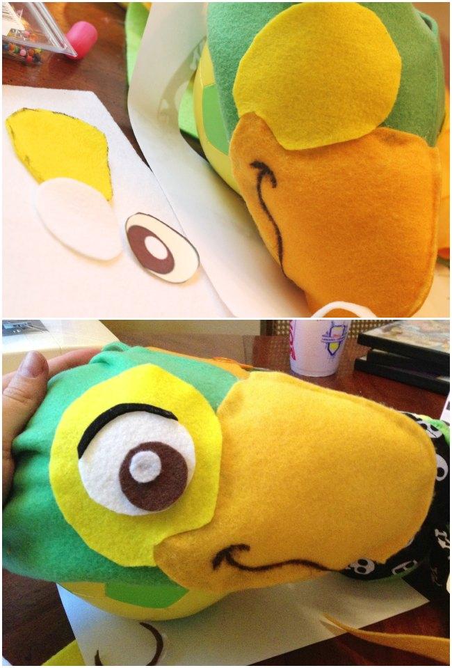 DIY Disney's Skully Parrot Hat