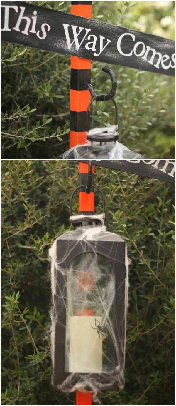 DIY Halloween Spooky Lamp Post