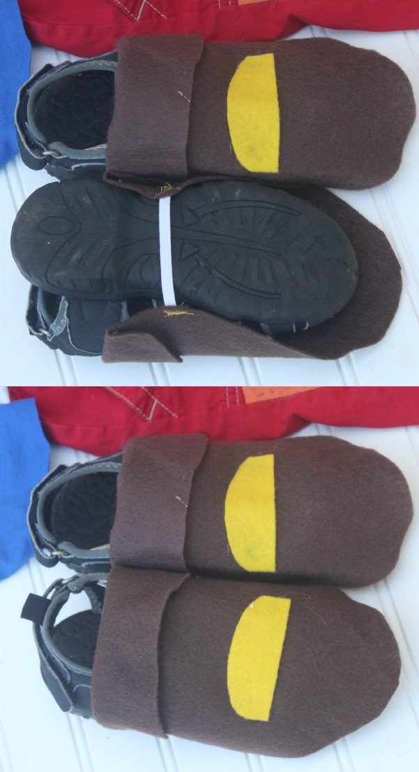 DIY Pirate Costume shoe covers