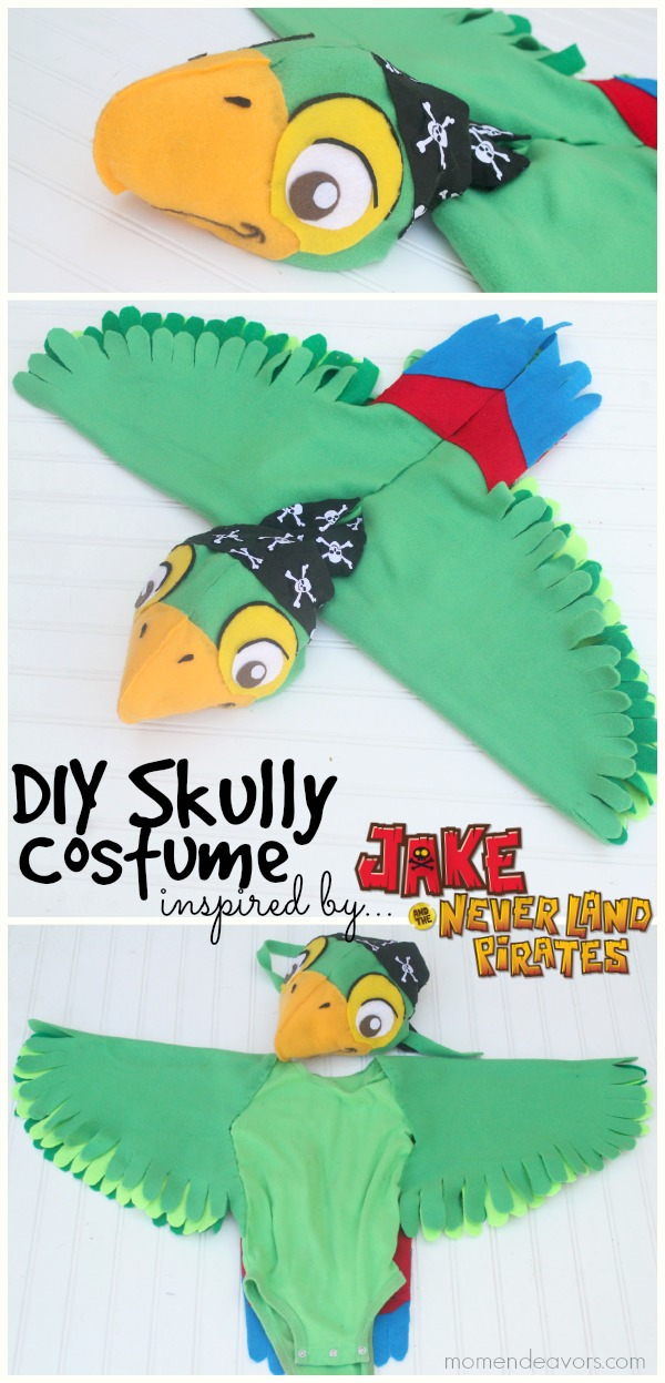 Diy Skully Parrot Costume From Disney S Jake Amp The Never
