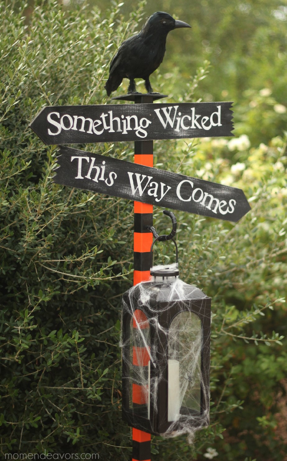 Halloween Something Wicked Sign Post