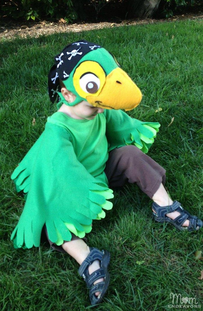 Handmade Skully Parrot Costume