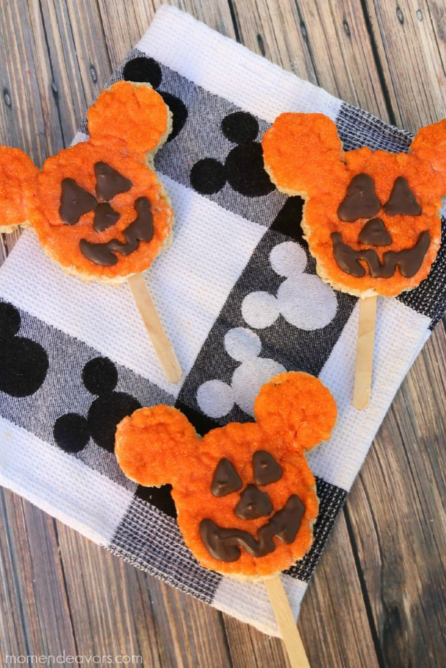 Homemade Mickey Pumpkin Treats