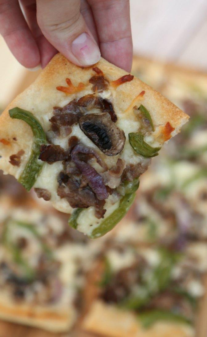Philly Cheesesteak Pizza Bites