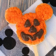 Homemade Disney Halloween Pumpkin Mickey Rice Krispies Treat