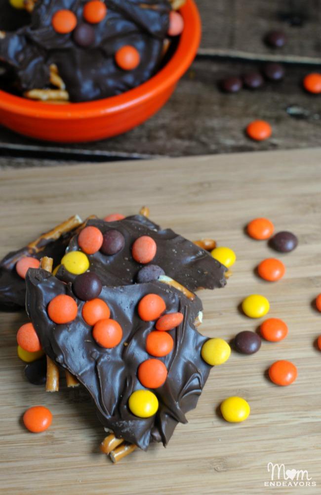 Reeses Chocolate Pretzel Bark