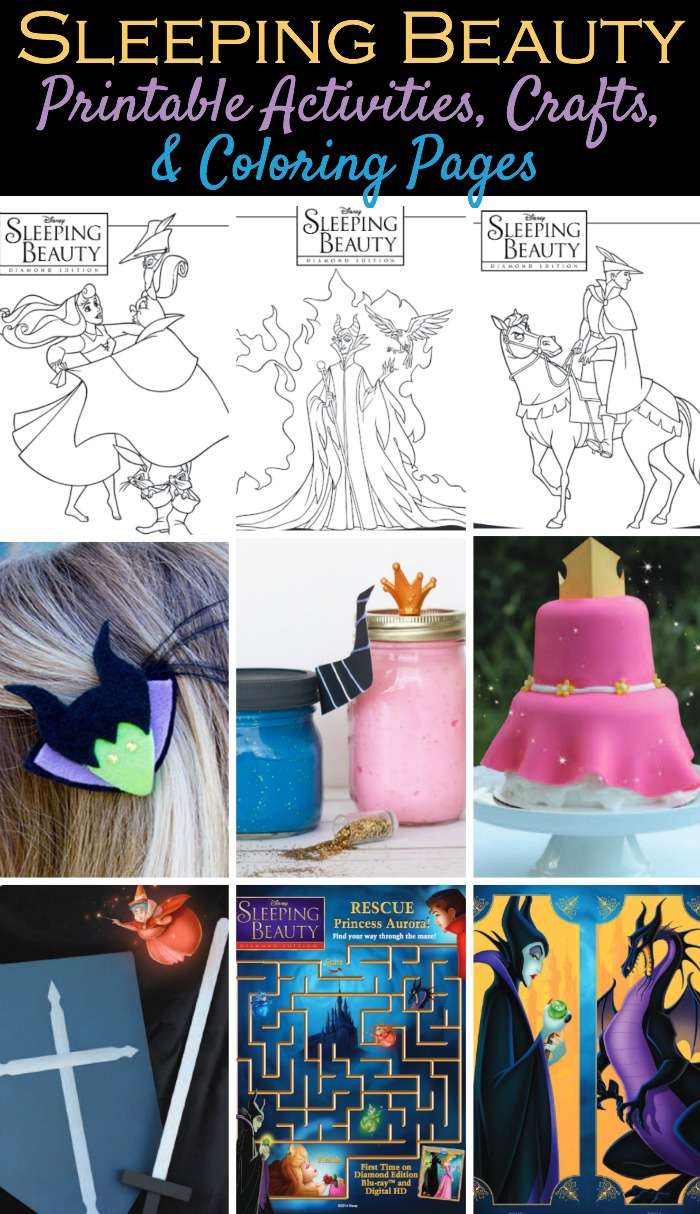 sleeping beauty craft ideas disney s sleeping printable activities coloring 5434