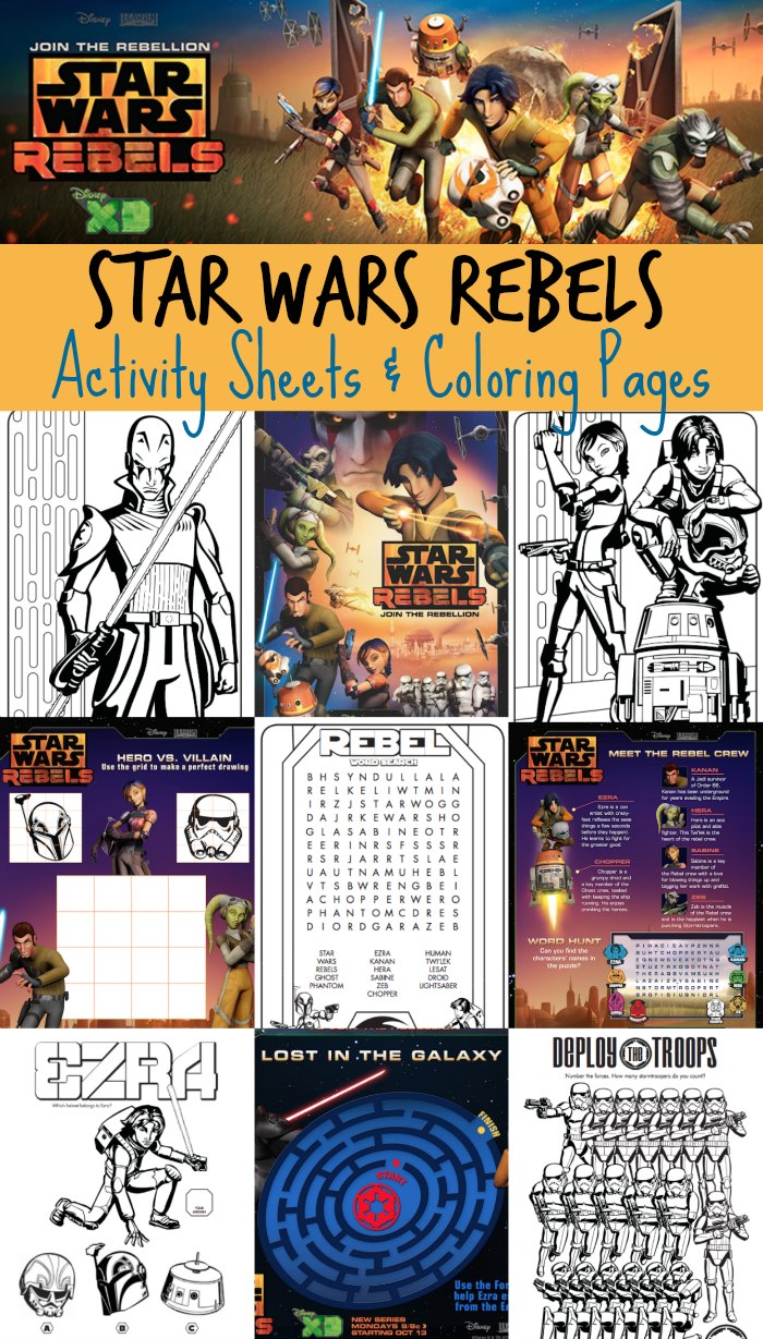 Star Wars Rebels Printable Activity Sheets & Coloring Pages
