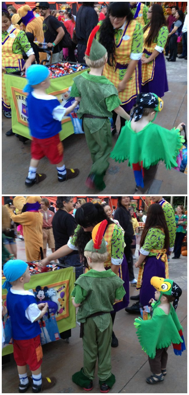 Trick or Treating at Disneyland