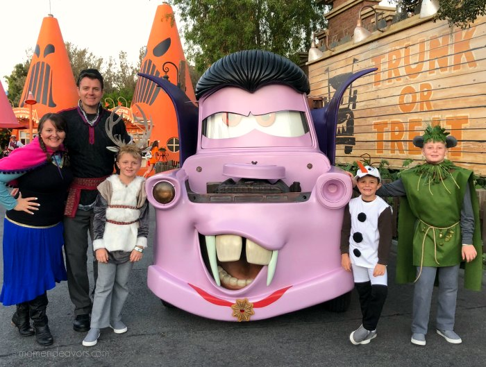 Mater Dressed as a Vampire at Disneyland