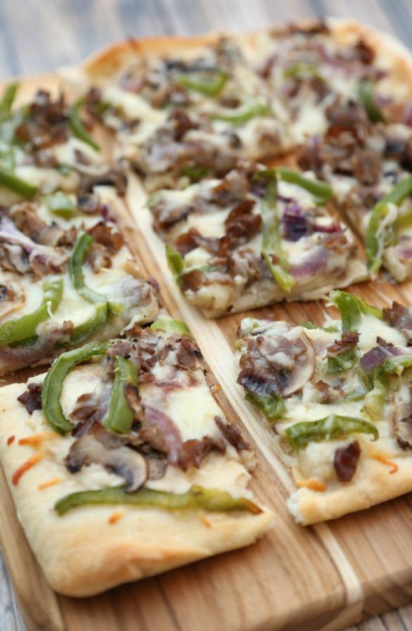 White Cheesesteak Pizza