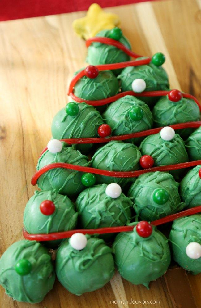 Christmas Tree Cookies #OreoCookieBalls