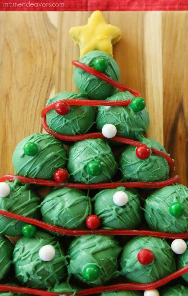 Christmas Tree OREO Cookie Balls