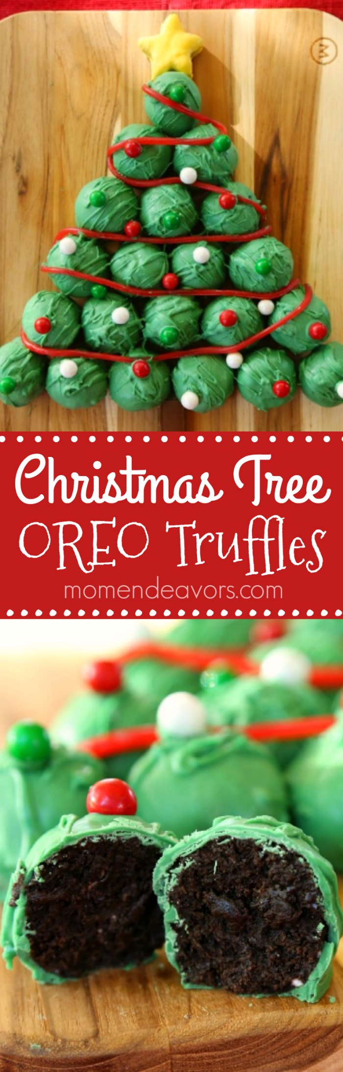 Christmas Tree Oreo Truffles