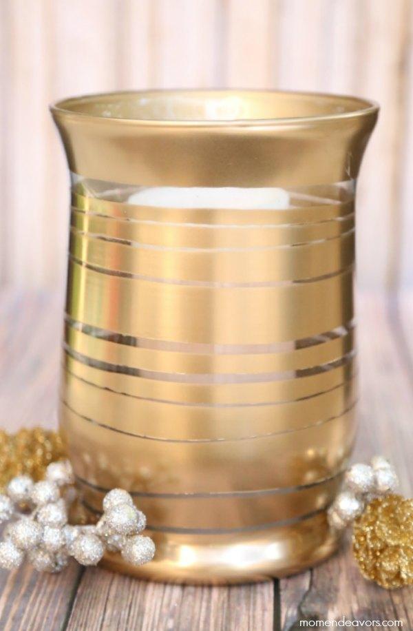 DIY Gold Metallic Vase