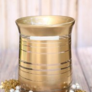 DIY Striped Gold Metallic Vase
