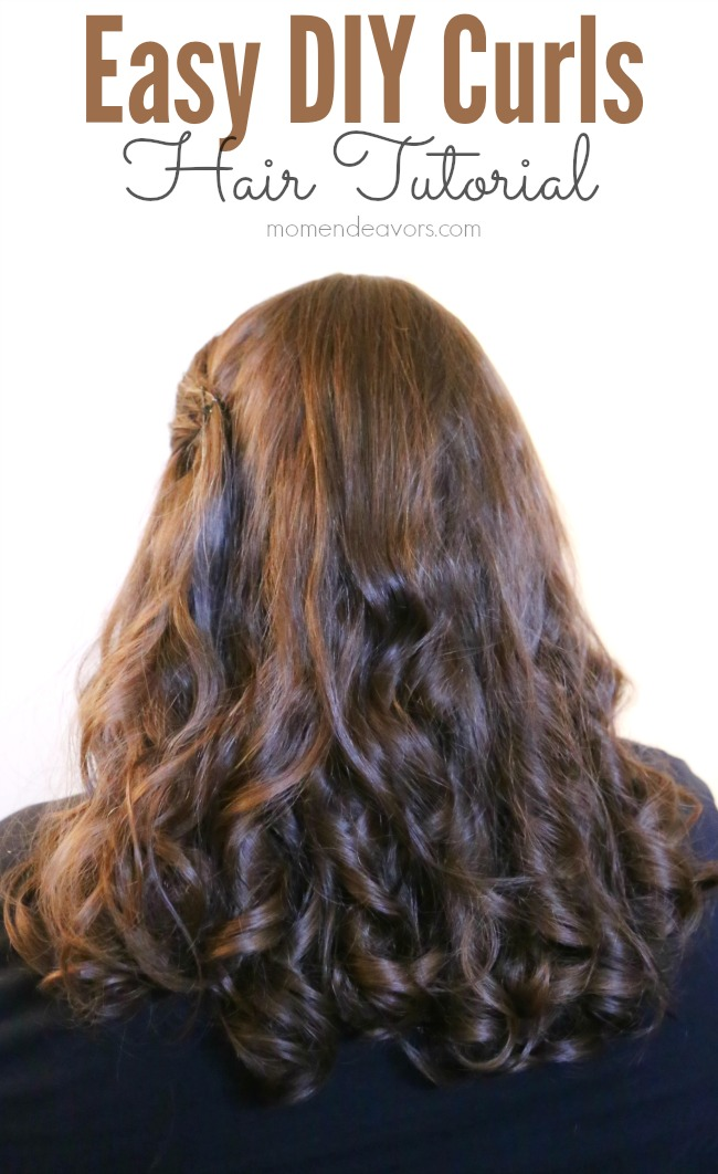 Easy DIY Curls Hair Tutorial #HeartMyHair
