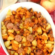 One-Pan Paleo Chicken Apple Sausage & Sweet Potato Skillet