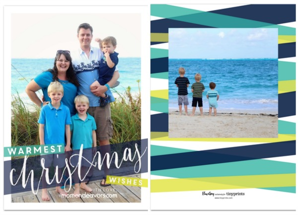Modern & Bright Christmas Cards #TinyPrints