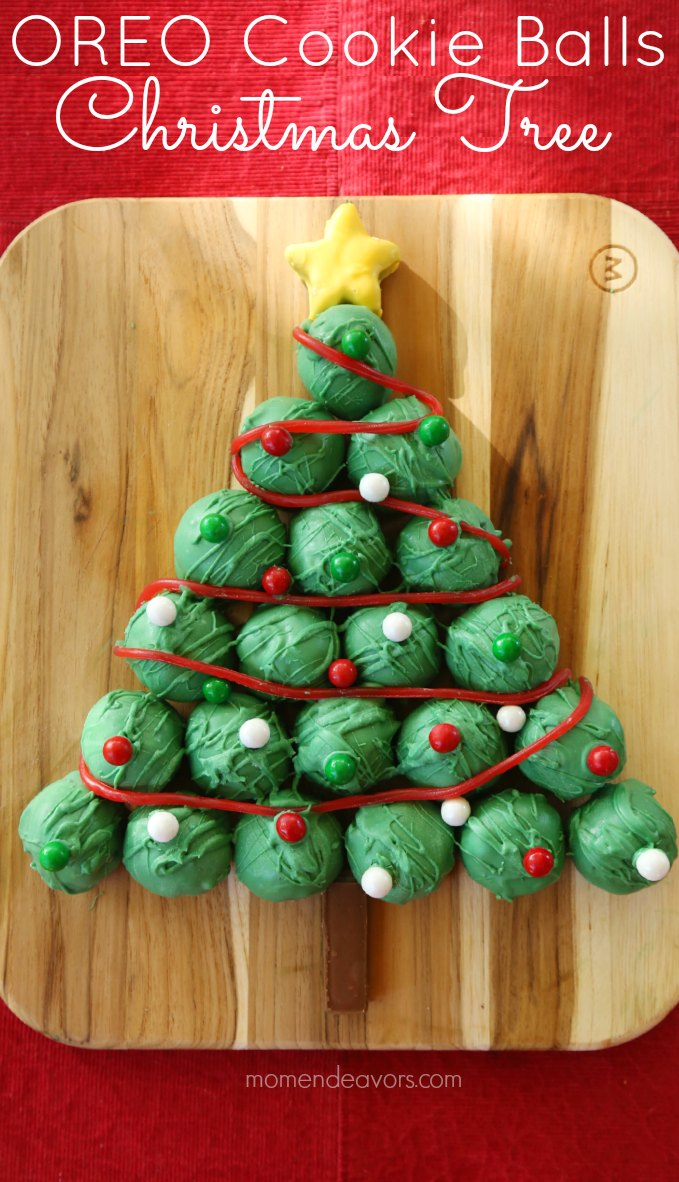 OREO Cookie Balls Christmas Tree