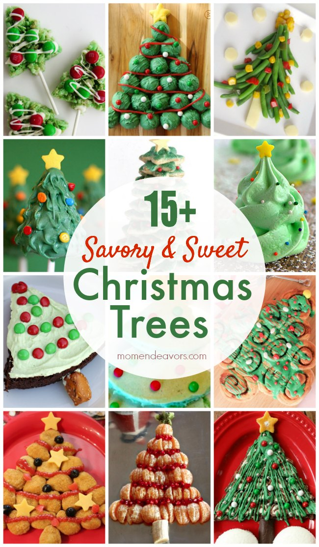 15+ Savory & Sweet Edible Christmas Trees